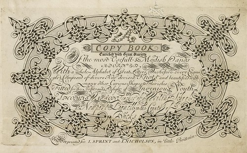 Thomas Watson 'A Copy Book Enriched With Great Variety of the Most Usefull & Modish Hands' 1707
