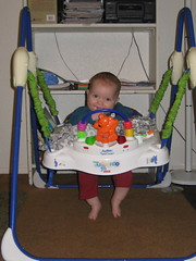 Silas in the jumperoo