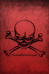 Wallpaper for IPhone Red skull