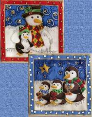 Snowy Patches (konnykards) Tags: christmas xmas beads fabric stitching fabrics