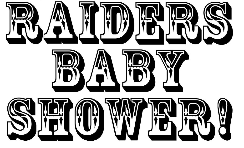 Raiders Baby Shower Sign