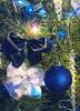 Blue Christmas (joehall45) Tags: christmas blue tree lamp lights ornaments snowmen needles bows icesickle mywinners abigfave mykindofpicturegallery