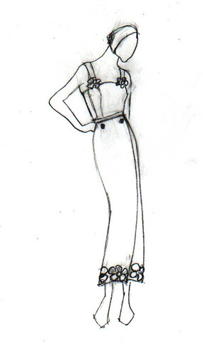 Fashion sketch: dress