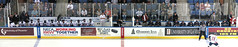 Reign and Salmon King bench panorama (mark6mauno) Tags: panorama ontario hockey nhl losangeles los angeles salmon bank victoria arena business kings national echl league citizens reign losangeleskings nationalhockeyleague salmonkings canonpowershots3is citizensbusinessbankarena 200809