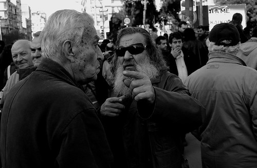 Protest march - general strike in Greece