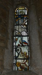 Medieval stained glass window St. Mary - Fawsley