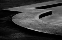 Tres (Delay Tactics) Tags: spain pool black white angles curves bw sky reflection three tres haphazartinthedark 3 e blanco y negro haphazartliquid haphazartthree coin coín