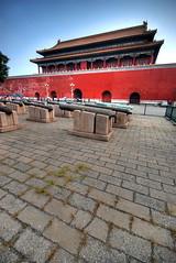 Merry Christmas from the Forbidden City (5ERG10) Tags: china christmas blue roof red sergio photoshop pagoda nikon gate stones beijing cannon handheld  forbiddencity imperialpalace hdr highdynamicrange cina    pechino 3xp photomatix sigma1020 d80 amiti ch 5erg10 sergioamiti