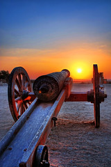 Lone Cannon at Al Zubara (rbsuperb) Tags: sunset tower heritage history gun explore mortar cannon overlooking chronicle doha qatar watchtower memoirs explored qatarsunset alzubarafort northofqatar abandonedcity rbsuperb desertedfortress richardsupera