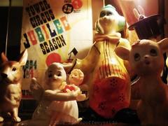 Circus Freaks (ilovecoffeeyesido) Tags: rabbit angel clown deer cherub plasticdoll towercircus leftonrabbit circusprogram vintagecircusprogram
