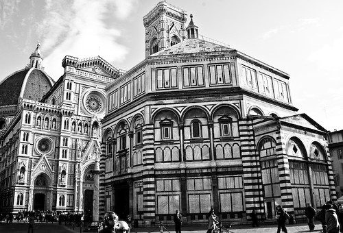 Piazza del Duomo in Black and White by Justin Korn