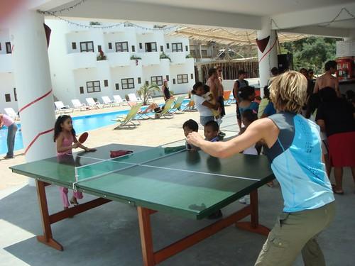 Ping-pong...