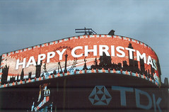 Happy Christmas en Piccadilly Circus