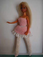 Ballet Dress & Tights (Pippamix) Tags: doll handmade crochet pippa clotehs