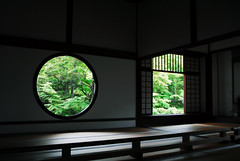 Kyoto025 (Kosei.S) Tags: window japan temple kyoto zen doubt wabi sabi enlightenment genkan