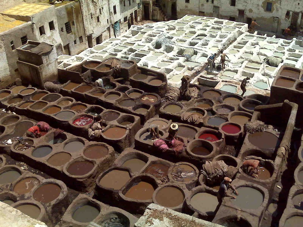 A tannery in Morocco