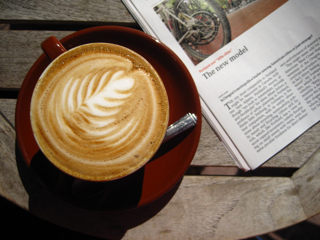 Bike grease, ealry reads and coffee.
