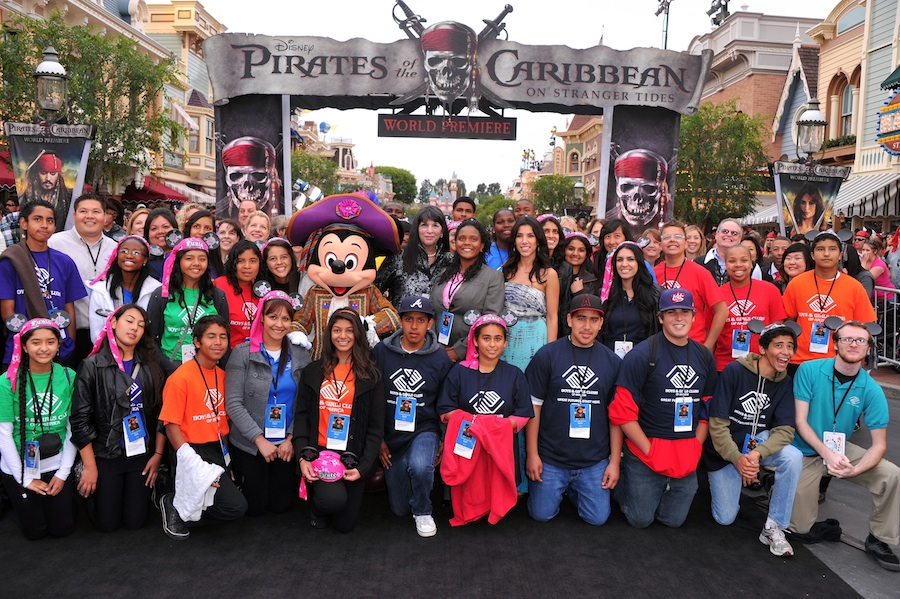 Members of the Boys & Girls Club of America at the World Premiere of 'Pirates of the Caribbean: On Stranger Tides' at Disneyland Park
