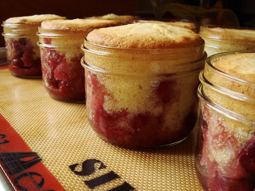 Cherry-Almond Cobbler In Jars