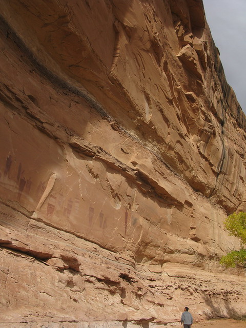 the Great Gallery, Horseshoe Canyon