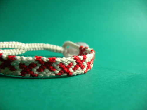 Red Cross Friendship Bracelet
