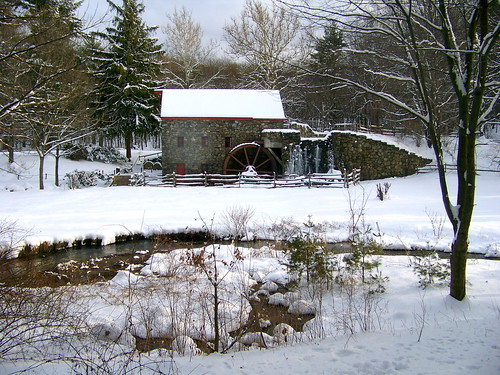 Old Grist Mill in Winter