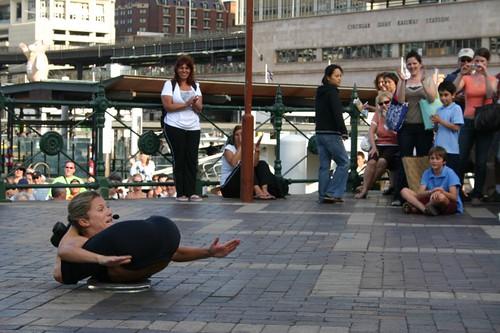 Street performer in Sydney.
