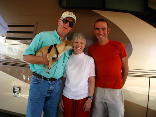 With Dan and Beth at an RV Park near Lake Amistad, Texas, USA