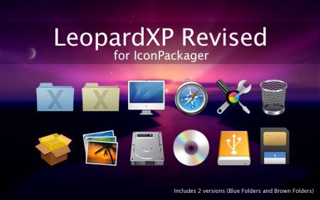 Leopard XP Revised Iconpackager Icons