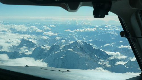 Descending over the Alps