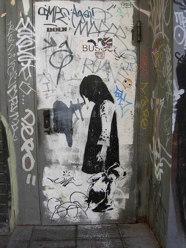 Photograph of graffiti by DOLK taken by Cathrine Idsøe in Barcelona