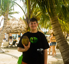 These Coconuts Just Fall (kuyman) Tags: sun apple beautiful palms island saturated coconut belize beatles mccomas kuyler