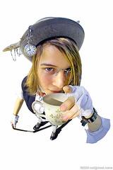 Teatime (neilcreek) Tags: costume fisheye asham