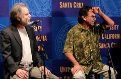 Bob Weir & Mickey Hart at the Grateful Dead Archive at the University of California-Santa Cruz press conference 4/24/08