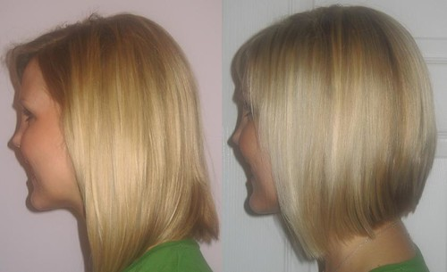 medium length graduated bob