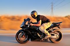 Honda CBR 1000RR Motorcycle (Herman Au - http://www.hermanau.com) Tags: sunset motion blur bike ride automotive motorcycle 1000cc rollingshot hondacbr1000rr hermanauphotography