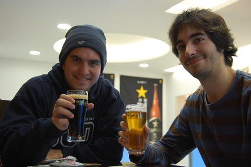 Manu, me and beers