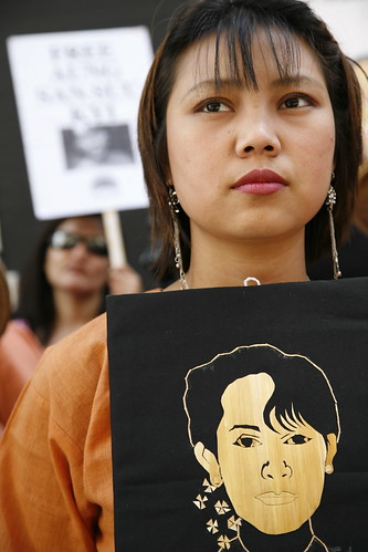 Aung San Suu Kyi's Birthday demo