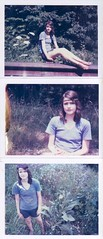 Apathy (Kate Pulley) Tags: summer amanda green girl june polaroid outdoors triptych sister twin 320 packfilm iduv