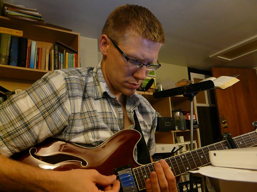 bill van loo - working on a guitar piece