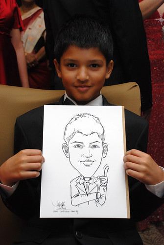 caricature live sketching for wedding dinner 120708  - 13