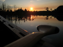 View from a Canoe (cedarkayak) Tags: statepark sunset summer lake reflection landscape michigan paddle canoe explore canoeing baldmountain cedarstrip woodboat blueribbonwinner bendingbranches
