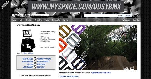 Odyssey on Myspace