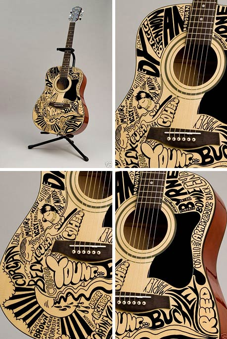 jeremyville art design illustration guitar