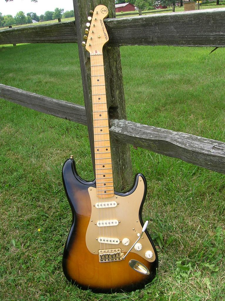 pickguard sunburst anodized harmony guitar