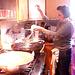 Bert cooks crispy noodles