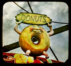 donuts (buckaroo kid) Tags: uk england sign seaside donuts amusementpark doughnuts funfair essex southend westcliff adventureisland dullday onsea coastuk