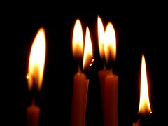 blackout (luana183) Tags: light church candles chiesa santorini greece giallo grecia calore nero luce cera ceri fiamma candele