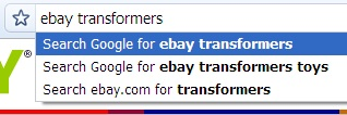 eBay Searching On Chrome