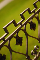 Wrought Iron Hearts (laughlinc) Tags: hearts wroughtiron explore nikond80 colorphotoaward cmwdgreen omahabotanicalgarden thechallengefactory laughlinc